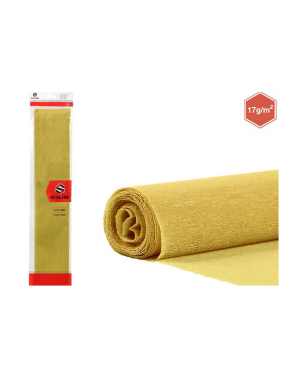 CARTA CRESPA SCARLING ORO