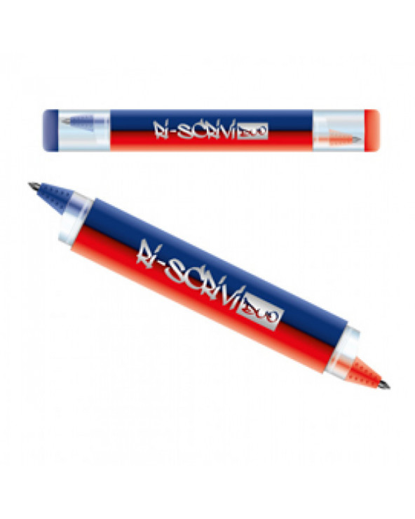 PENNA CANCELLABILE OSAMA DUO BLU/ROSSA